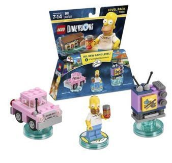 NEW Simpsons Level Pack LEGO Dimensions Toys Pack PS3 Ps4 Xbox FREE SHIPPING