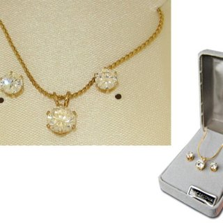 Cubic Zirconia Necklace Earring Set NWT