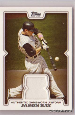 Jason Bay, 2008 Topps Game Worn Uniform Relic Card #TR-JB, Pittsburgh Pirates