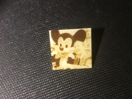 DISNEY Collectible CAST MEMBERS ONLY PIN featuring photo of Mickey Mouse & Walt Disney