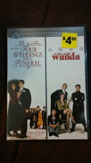 *2 DVDs* (Four weddings and a funeral) & (A fish called Wanda)