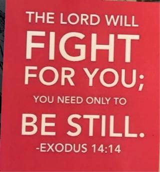 """Scripture quote ~ exodus 14:14 - 3 x 4"""" MAGNET"""