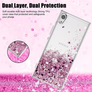 Moving Liquid Quicksand Hybrid Clear TPU Case for Sony Xperia XA1 / XA2 / L2, L1