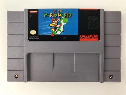 ✯Super Mario World (Nintendo 1992) Super Nintendo SNES ~ FREE SHIPPING✯