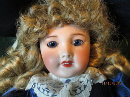 A 17 Inch, Unis France, Be Be Jumeau, Bisque Porcelain Doll