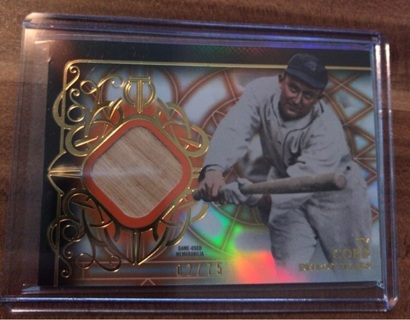 2015 Topps Tribute Ty Cobb Game Used Bat /75
