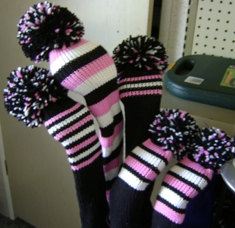Knitted Golf Club Covers Pattern Free : Free: Knit Knitting Pattern for Golf Club Covers - Knitting - Listia.com Auct...