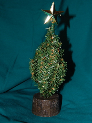 Miniature Christmas Tree with Decorations