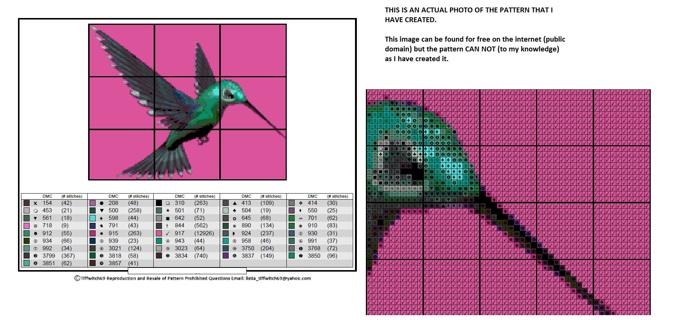 Hummingbird Cross Stitch Patterns ***WINNERS CHOICE***