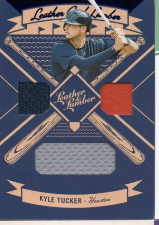 2019 Panini Leather and Lumber Kyle Tucker Triple Jersey