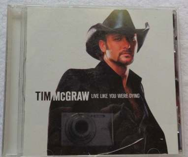 Tim McGraw Live Like You Were Dying CD Country Music