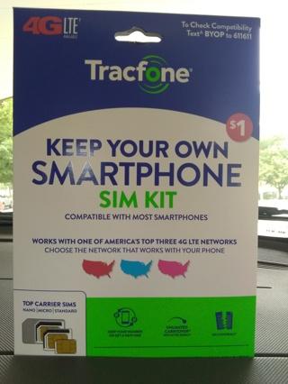 4g LTE tracfone sim card new.