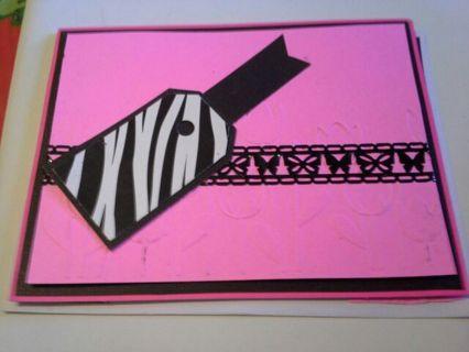 * Winners choice* handmade card and envelope