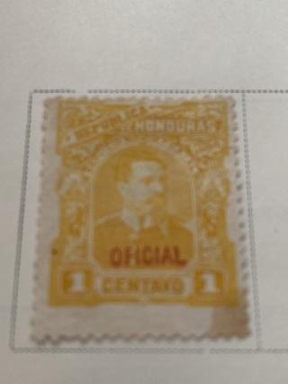 1891 Official Honduras Stamp