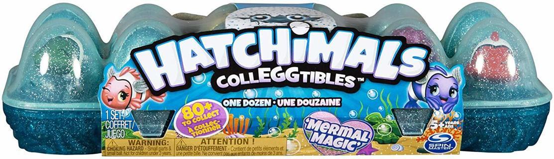 Hatchimals Toy Colleggtibles, Mermal Mermaid Magic 12 Pack Dozen Egg Carton Season 5-New Sealed
