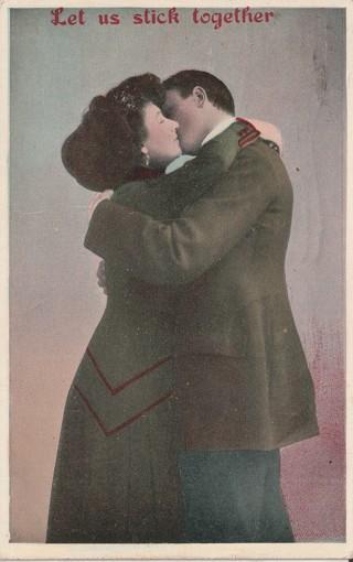 Vintage Used Postcard: 1914 Let Us Stick Together