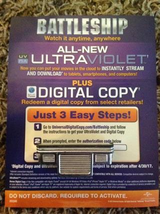 Battleship uv code