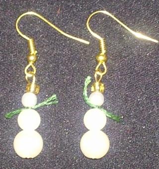 New snowman earrings