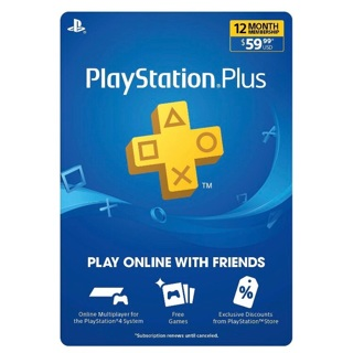12 Month Playstation Plus Subscription Code (PS5/PS4/PS3) (USA) Fast Delivery!