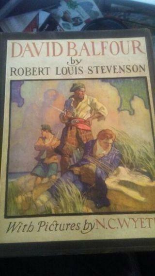 David Balfour, Robert Louis Stevenson (1942 edition) Vintage / Antique