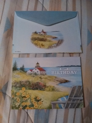 HAPPY BIRTHDAY TO YOU CARD WITH ENVELOPE -- NEW!!