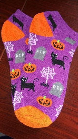 BN Ladies Low Cut Halloween Socks