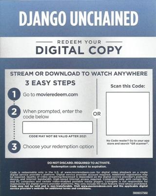 Django Unchained-Digital Code