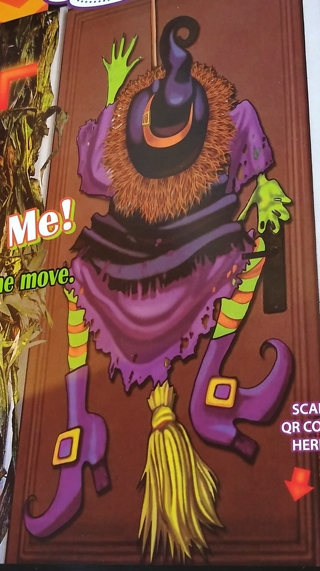 HALLOWEEN WITCH DOOR COVER DECORATION HOME DECOR 30 INCHES X 60 INCHES
