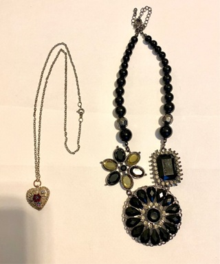 Pre owned 2 necklaces 1 of them signed