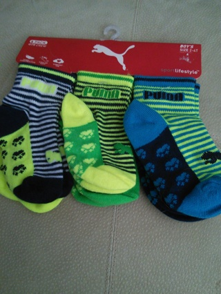 Puma boys 6 pack socks