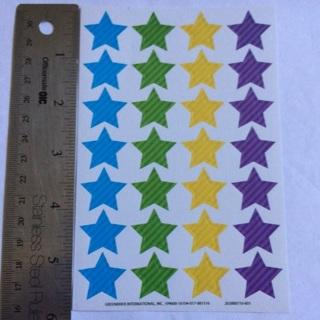 ⭐️ Rainbow With Stripes Stars Sticker Sheet BRAND NEW Kawaii ⭐️