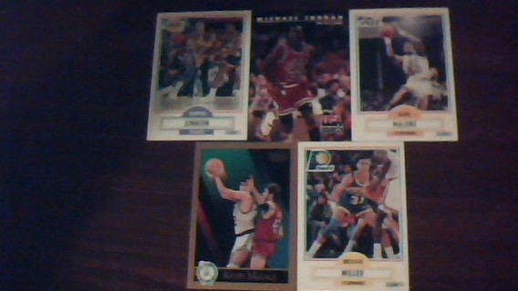 5 basketball cards