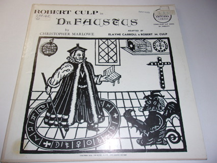 Robert Culp-Dr. Faustus by Christopher Marlowe Rare Library Editions-LP VG/Exc