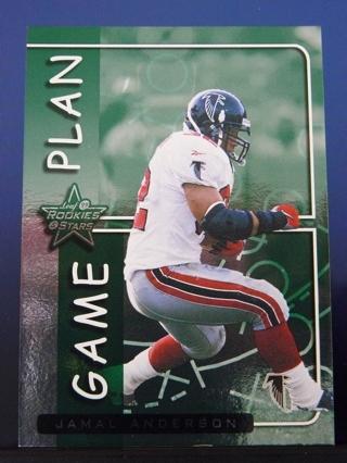 """1999 Leaf Rookies & Stars """"Game Plan"""" Jamal Anderson (Falcons) S/N #1147/2500"""