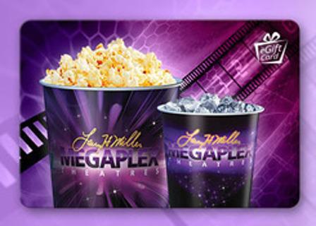 1 Megaplex Theatres e Giftcard $20.00 Gift Card Code $20 eGiftcard
