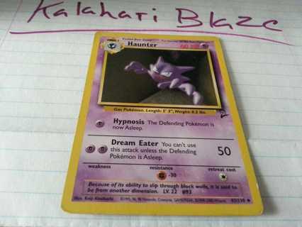 Pokemon Card Base Set 2 Haunter