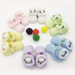 Baby Boy Girl Flower Cotton Socks NewBorn Infant Toddler Kids Non-Slip Soft Sock