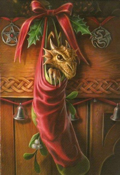 Free Dragon Stocking Cross Stitch Pattern Needlepoint