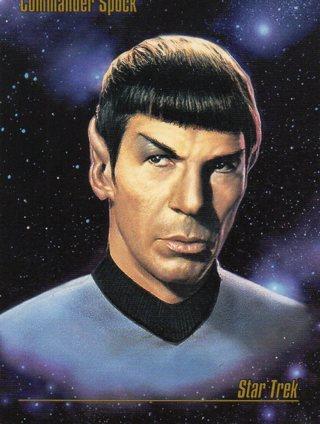 1993 Star Trek Collectible/Trade Card: Commander Spock