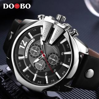 DOOBO Men Watches Top Brand Luxury Gold Male Watch Fashion Leather Strap Casual sport