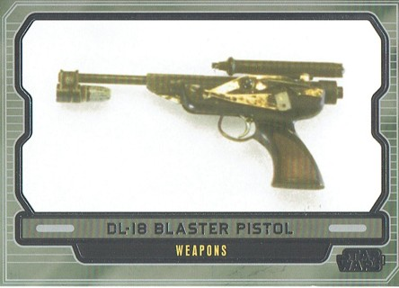 Star Wars Galactic Files Topps 2013 Collectible Card DL-18 Blaster Pistol #632