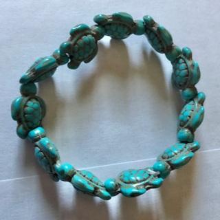 Brand New: Adorable Adjustable Handmade Turquoise Tortoise Bracelet. Hypoallergenic. Non Metal
