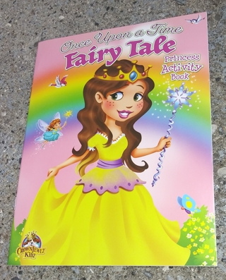 MEDIUM COLORING AND ACTIVITY BOOK ONCE UPON A TIME FAIRY TALE