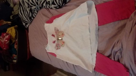 Little girl top and legging 6x /7