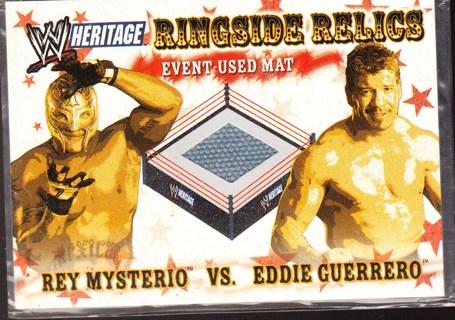 '06 TOPPS REY MYSTERIO VS. EDDIE GUERRERO ,RELIC CARD,PIECE OF MAT