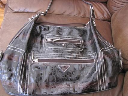 Black Textured Purse/hand bag