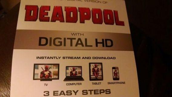 Deadpool Digital HD Ultraviolet Code