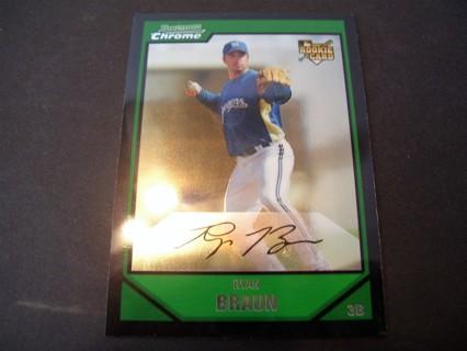 2007 Bowman Chrome Ryan Braun Rookie Card.