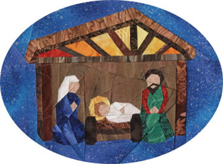 NATIVITY SCENE Christmas Ornament Foundation Paper Pieced Quilt Pattern - Free: NATIVITY SCENE Christmas Ornament Foundation Paper Pieced
