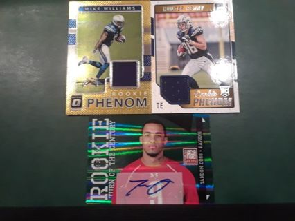 NFL TIER LOT FOOTBALL ROOKIES RELICS AUTOS NUMBERED CARDS 21 DAYS